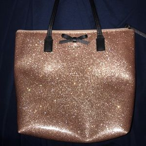 Kate spade glittery pink shoulder bag